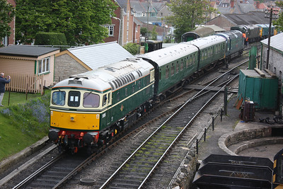 33012 shunting ahead of the main 3 day gala at Swanage 8/5/14