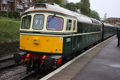 33012 Swanage, about to work its first passenger train for over 2 years, standing in for 50026 with the 1200 Swanage - Norden and meant there was a move that morning which was 33111 for 33202 for 33012! 8/5/14