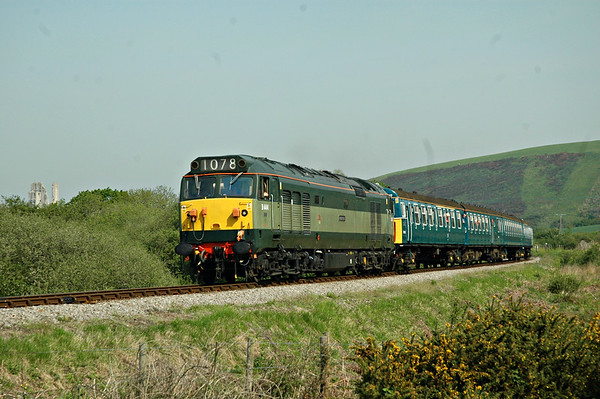 D444 + 3417 heads on to Corfe Common, with 2S01 0945 Norden ~ Swanage