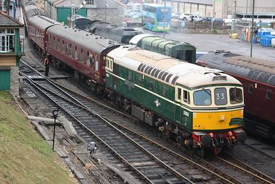 33012 departs Swanage with 1423 Swanage - Wareham 28/6/17