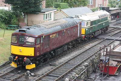 33025 is removed from the 1423 to Wareham at Swanage by 33012 to enable traction motor blower repairs to take place 28/6/17