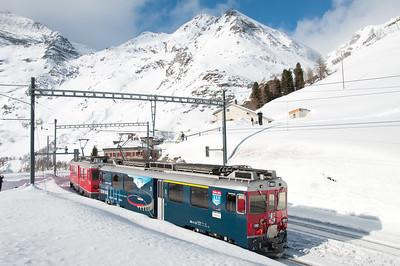 52+53 depart Alp Grüm with the 12.45 St.Moritz-Tirano 17/1/10