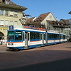 Despite appearances, this is a light rail EMU, not a city tram, although the RBS does share tracks with Bern's trams at this point.