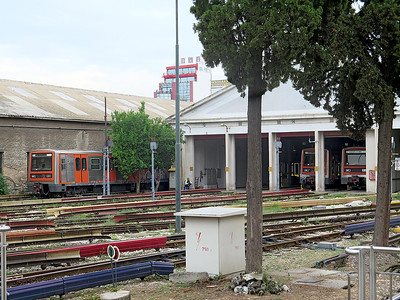 Athens Metro Depot at Piraeus. Wednesday 7th June 2016.