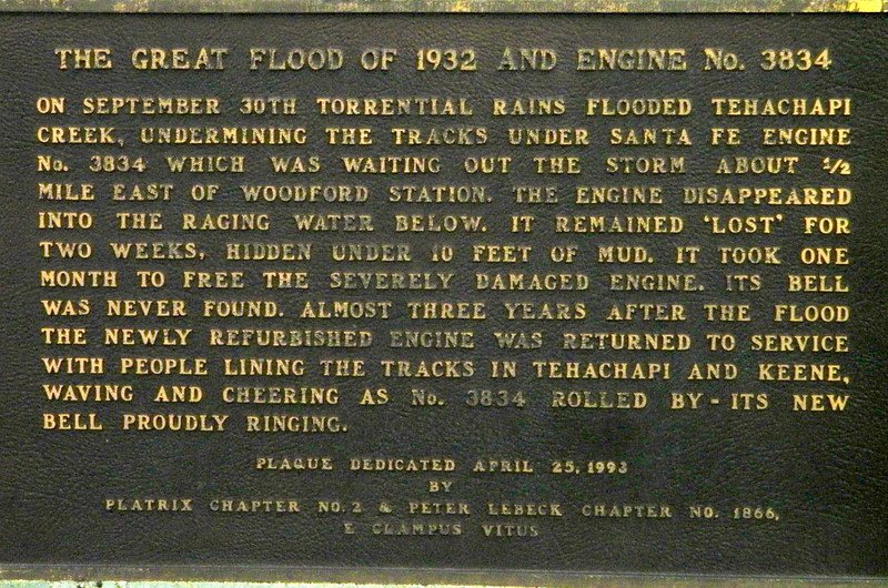 Another Loopside plaque, from 1993, this one telling the story of a lost and reclaimed locomotive.