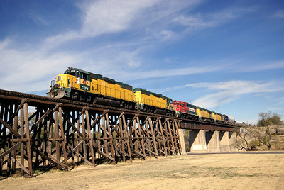 Crossing the bridge into San Angelo, TX