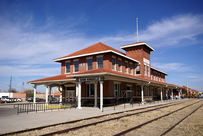 Originally built by the Kansas City, Mexico & Orient Railroad, it later became headquarters for the Santa Fe after they acquired the KCM&O.  It is now a very reputable railroad museum.
