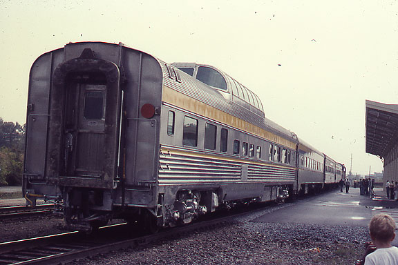 Dome Car at end of train