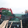 The remaining arch of bridge 87 is demolished. 18/7/1998