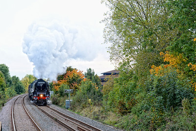 Steaming through Bow Brickhill