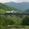 22nd June 2010. K1 62005 crossing the Glenfinnan Viaduct.
