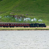 22nd June 2010. 62005 Lord of the Isles passes Loch Eilt.