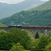22nd June 2010. 62005 crosses the 21 arch Glenfinnan Viaduct.