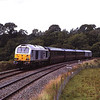 67029 propels the DBS corporate train round the curve at Wennington en-route from Doncaster to Liverpool 8/7/2011