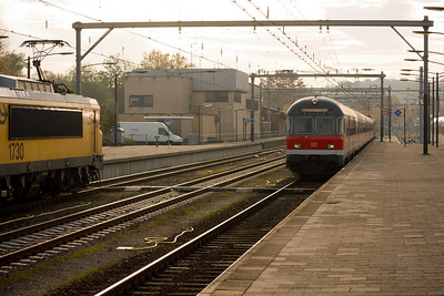 Venlo: train to Hamm waiting for departure (my destination was Düsseldorf)