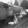 A non stop freight clanks through Wakefield Kirkgate on 13/05/66 - the 56A allocated loco surviving until May 67.