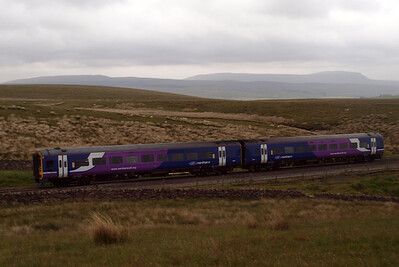 158817 heads north at Blea Moor.