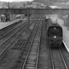 Seaton Junction on 11/07/64 sees the arrival of the 15 35 local stopping service Exeter Central to Yeovil Junction with Exmouth Junction's BoB 34070 Manston in charge. Although withdrawn that September after many years rotting at Barry she was rescued and is now in preservation.