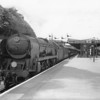 Merchant 35009 Shaw Savill Line prepares to depart Exeter Central on a summer Saturday on 11/07/64 with one of the many portioned Atlantic Coast Express. This Exmouth Junction allocated locomotive was withdrawn 2 months later.