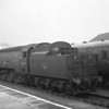 260 miles and 7 hours from Waterloo BoB 34054 Lord Beaverbrook is seen at Padstow having taken over the 00 45 from Waterloo at Exeter Central on 11/07/64. This Exmouth Junction allocated light pacific was withdrawn two months later and the line closed in January 1967.