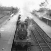 Templecombe allocated ex GWR 0-6-0 2218, having just worked the 13 15 across the Somerset plains from Evercreech Junction, is seen here shunting on the main line at Highbridge on25/04/64 - she was to last just 6 more months.