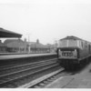 Hymeck D7072 arrives into Reading with an express from Paddington on 11/02/64 - the class becoming extinct 12 years later.