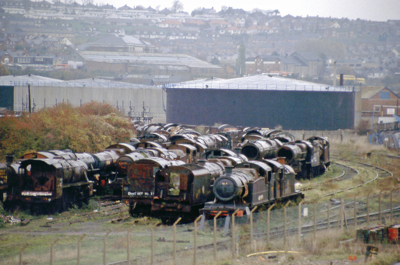Not the best quality image but historic. Barry scrapyard taken on a very wet day 20 November 1984.