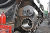 Cylinder assembly stripped down ready for a rebore after becoming scored on 73096 British Rail Standard class 5MT seen in Ropley yard.