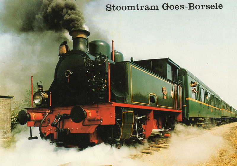 An official postcard of the Stoomtram Goes-Borsele line.