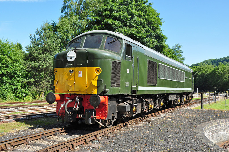 "My first ever photograph of a Class 44. D8 44008 ""Penyghent"" seen at Rowsley Peak railway 07/07/2013."