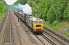 """47580 is seen at Deepcut on the SWML, & has charge of 5Z40 Bristol-Southall ecs move, with 60009 """"Union of South Africa"""" in the consist 10 June."""