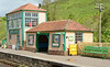 The recent build Signalbox at Corfe Castle station blends in very well with the waiting shelter.