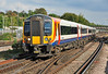 SWT Desiro 444038 arriving at Basingstoke heading for Poole 12/10/13. The SWT Desiro fleet travels over 20 Million miles per year on intensive services.