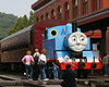 Thomas the Tank Engine poses for admirers at the Western Maryland Station