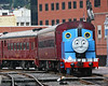 Thomas the Tank Engine passes through Cumberland, MD