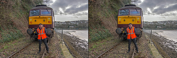"BLS ""Looe Brush"" tour, 47826 + Phil Marsh, 3rd February 2019"