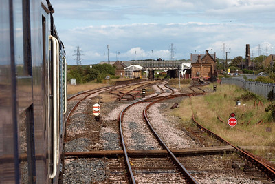 Approaching Workington Main station.