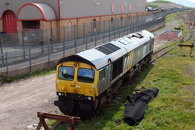 66301 in the shunt neck at Sellafield.