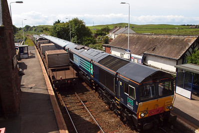 66420 on 1Z20 at St Bees as 6C53 gets underway to Sellafield.