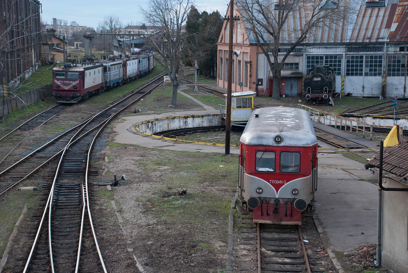 Timisoara depot - roundhouse and turntable still intact