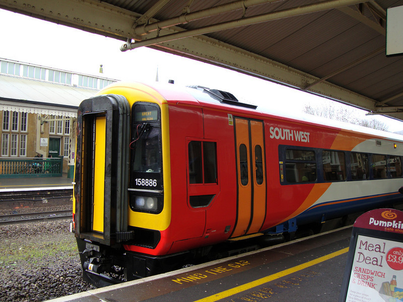 FGW 158 (in SWT Livery) for Great Malvern