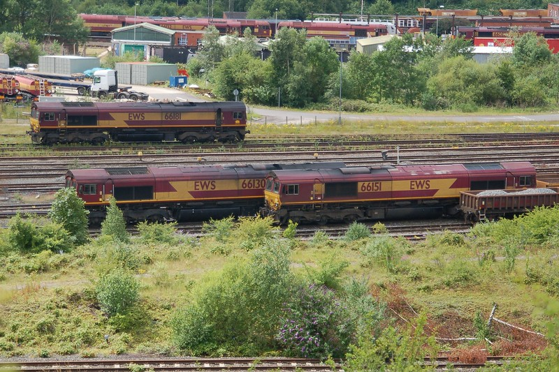 66181, 66130 & 66151 - Toton - 1 July 2017