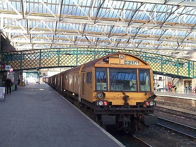Loram C2101 (DR79231, DR79232, DR79233, DR79234, DR79235, DR79236, DR79237), Carlisle, 27th January 2004