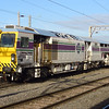 DR77002 Plasser & Theurer AFM 2000 RT track finishing machine at Nuneaton on 27th September 2007