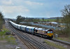 66133 passes Brocklesby Junction with 4R51 Biomass hoppers from Drax Power Station to Immingham Biomass Loading Point