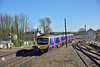185108 arrives at Barnetby with 1B73 09.26 First Transpennine service from Cleethorpes to Manchester Airport