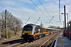 Grand Central HST power car No.43484 is northbound at Welham Green with the 12.53 service 1N93   from Kings Cross to Sunderland<br /> <br /> 10 March 2015
