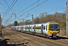 Wearing 'Explore Cambridge and Ely by train' vinyl<br /> Networker 365510 heads 1T31 the 11.54 from Kings Lynn past Welham Green<br /> <br /> 10 March 2015