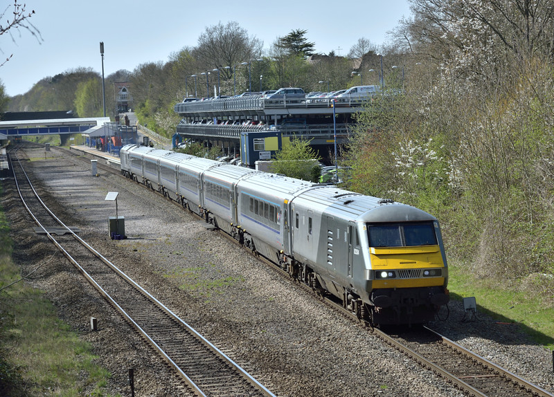 With the second loco- hauled train during my spell at Beaconsfield DVT 82304 heads for Marylebone with 1H55 the 13.12 from  Birmingham Snow Hill<br /> <br /> 15 April 2015