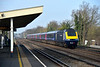 Easter diversions to FGW services brought West of England services up the SWML to Waterloo.<br /> Power car 43151 leads 1O36 the 05.46 from Exeter St Davids past Hersham<br /> <br /> 6 April 2015
